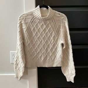 American Eagle cropped cable knit sweater
